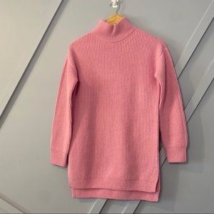 bp warm hug tunic pink knit pullover warm cozy